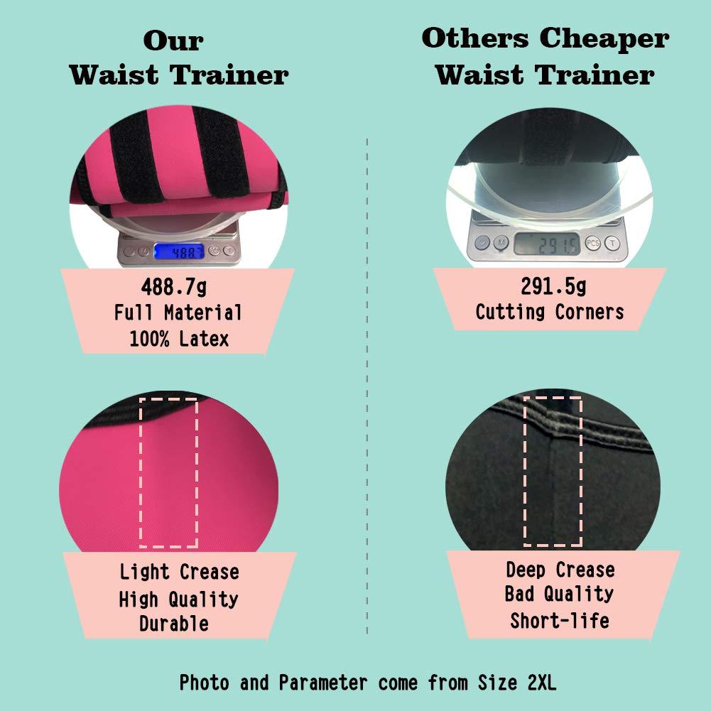 KOCLES Women Waist Trainer Cincher Abdominal Belt Zip Plus Size Latex Corset Body Fajas