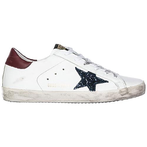 158a6f6bed4f4 Golden Goose Scarpe Sneakers Donna in Pelle Nuove Superstar Bianco EU 35  G33WS590.L56  Amazon.it  Scarpe e borse