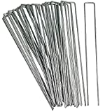 Sunnydaze 12 Inch Garden Staples, Set of 25