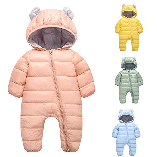 76970aec3 Amazon.com  Sunbona Infant Newborn Freeze Bunting Boys Girls Winter ...