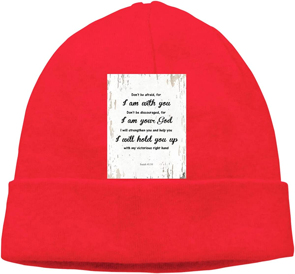 Dont Be Afraid for I Am with You Mens Beanie Cap Skull Cap Winter Warm Knitting Hats.
