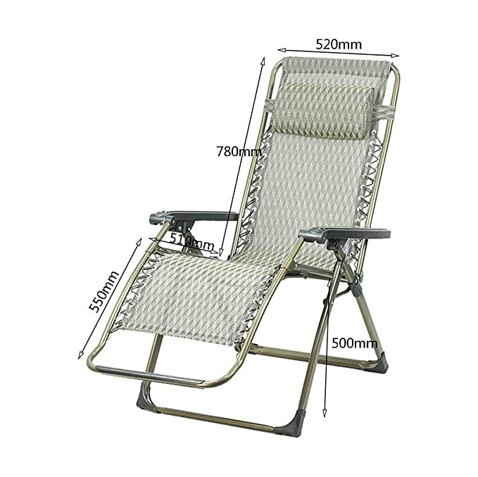 Amazon.com : DHMHJH Folding Recliner Zero Gravity Lunch Break Garden Deck Chair Sun Lounger Lazy Portable : Garden & Outdoor