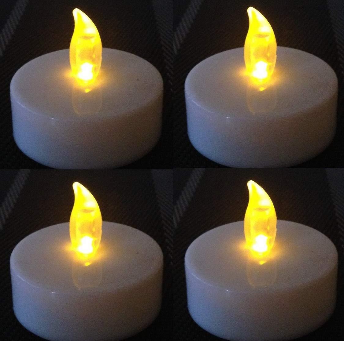 12er Set LED Teelichter Teelicht elektrisch Kerze Kerzen candle flackernd LEDs