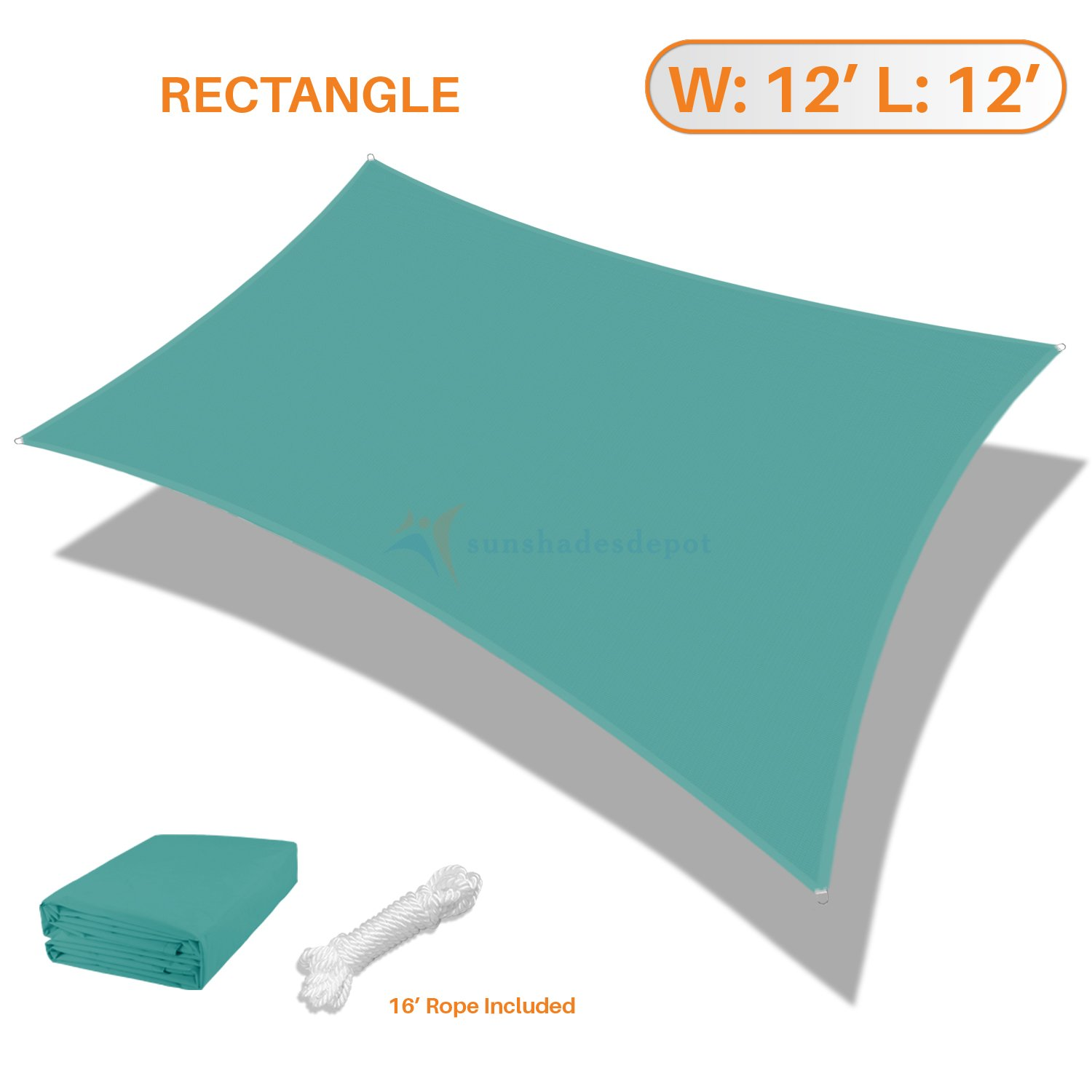 Sunshades Depot 12' x 12' Square Waterproof Knitted