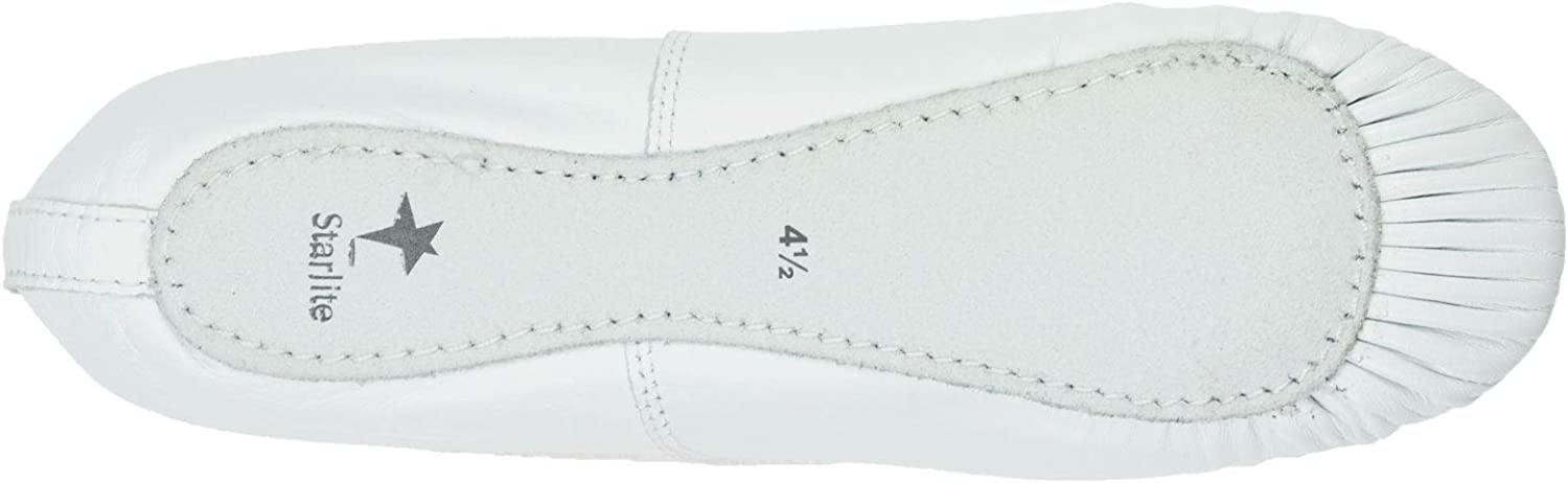 Starlite White Leather Full Sole Ballet Shoes