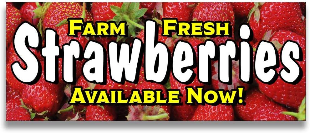 Size Options Farm Fresh Strawberries Vinyl Banner