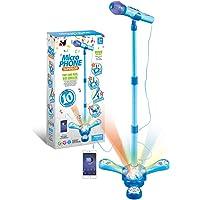 DSXX Karaoke Infantil con Micrófono, Micrófono con Soporte Ajustable y Efectos de Iluminación, Juguete Musical para…