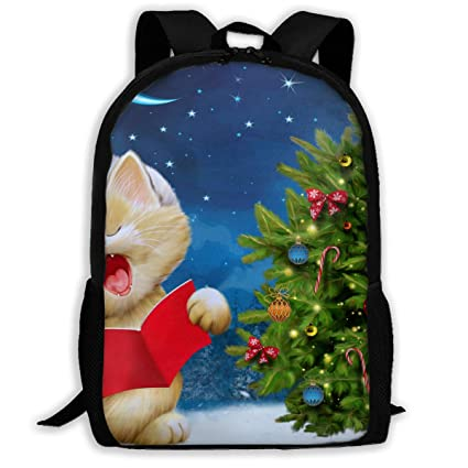 e69b4304bdbf Amazon.com: Twinkprint 3D Print Unisex Backpack - Cute Cat Sing ...