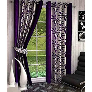 Srk Trendz polyresin Window Curtain, 5 feet, Red, wine , Pack of 1