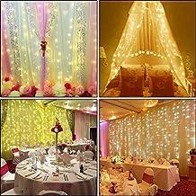 Ucharge 300 LEDs Window Curtain Waterproof Fairy Lights, 9.8-Feet