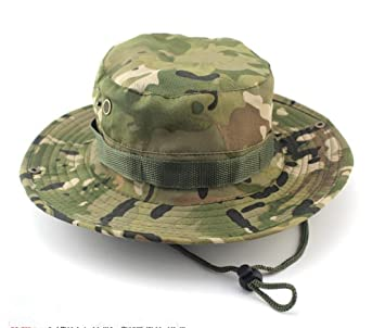 617b0dba78d Westeng Camouflage Hat Boonie Fisherman Rounded Sun Protection Hat Outdoor  Climbing Jungle Men Women Tactics Cap