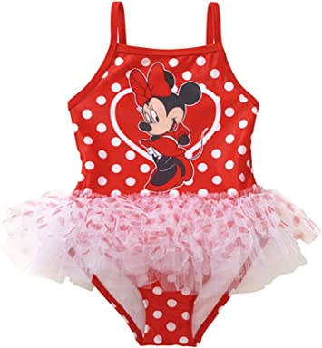 Minnie Mouse Girls Swimsuit One Piece