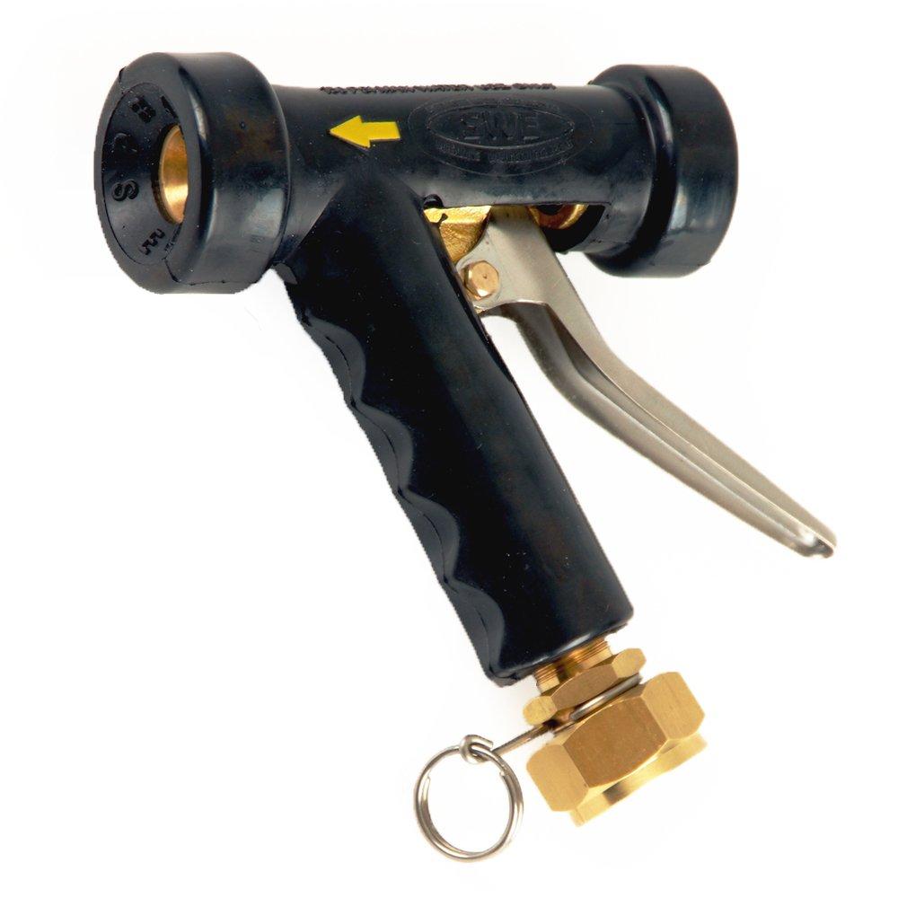 UltraSource 509033 Spray Nozzle with Junior Swivel GHT, Compact Design, Bronze/Black