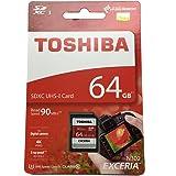 TOSHIBA 東芝 EXCERIA N302 64GB UHS-I SDXCカード 海外パッケージ THN-N302R0640A4 [並行輸入品]