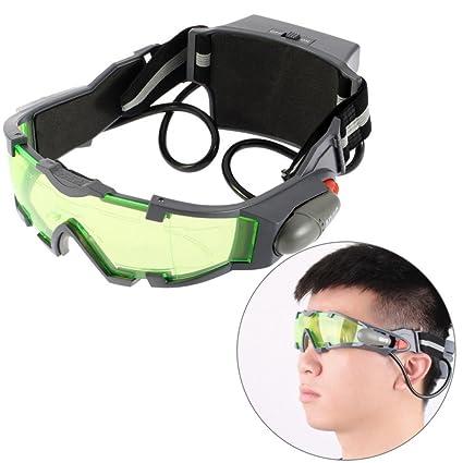 2729c8caba geshiintel banda elástica ajustable anteojos de visión nocturna niño lente  verde anteojos Eyeshield - negro +