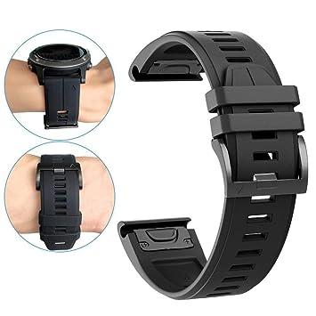 Garmin Bracelet de Rechange pour Montres Fenix 3//Tactix Bravo Bleu