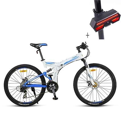 Huoduoduo Bicicleta, Bicicleta Plegable, 26 Pulgadas 27 Velocidades, Aleación De Aluminio, Freno