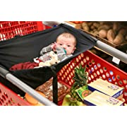 Baby Shopping Cart Hammock, Cart Cover for Newborn,Toddler and Twins, Black