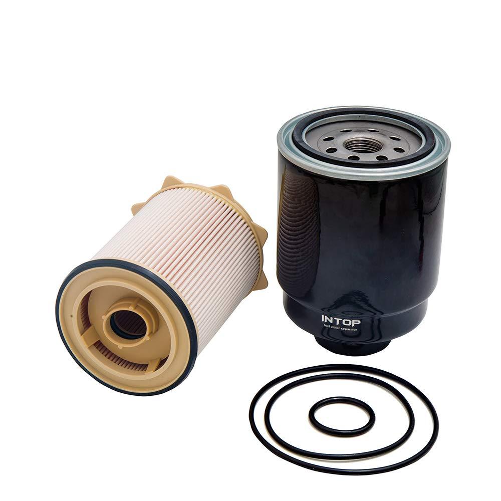 For Dodge 6.7L Cummins Fuel Filter Water Separator Set for 2013-2017 Ram 2500 3500 4500 5500 Diesel Trucks