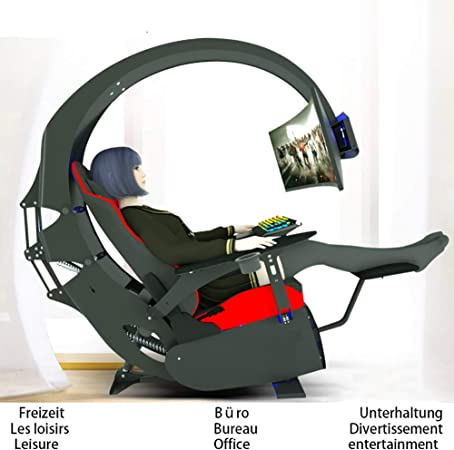 Xy M Computer Chair Boss Chair Racing Chair Computer Cockpit New Ergonomic Table And Chair Integrated Entertainment Esport Office Chef Chair Household Relieving Cervical Spine Fatigue Amazon De Kuche Haushalt