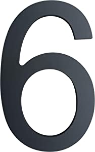 6 Inch House Numbers- Modern Floating Stainless Steel Home Address Number/Street Numbers for Outdoor/Exterior/Building/Apartment/Yard/Farmhouse/Elegant Black Finish,Number 6