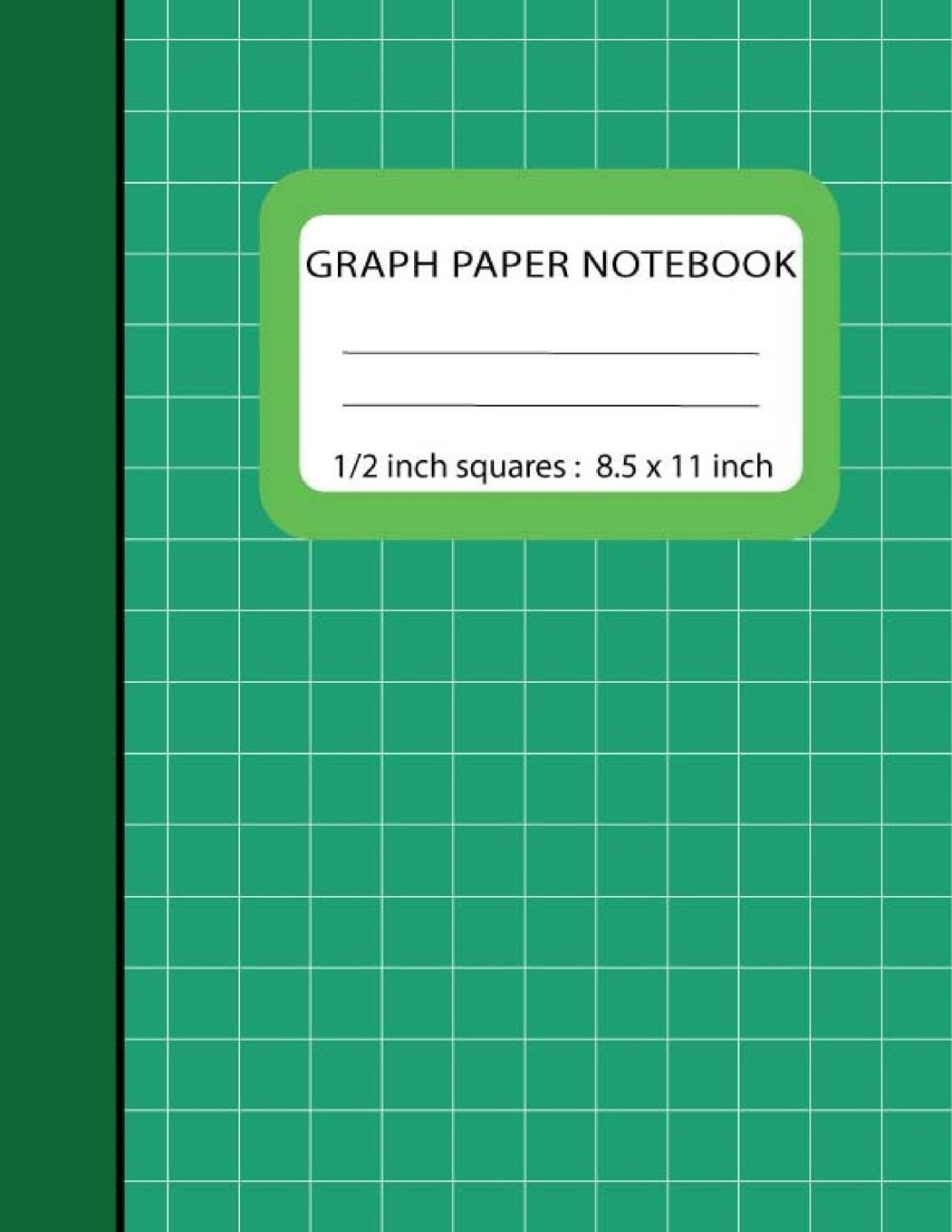 """8.5/"""" x 11/"""" Blank Quad Ruled 110 Square Grid Pages Large Graph Paper Notebook 1//2 inch Squares Composition Books"""