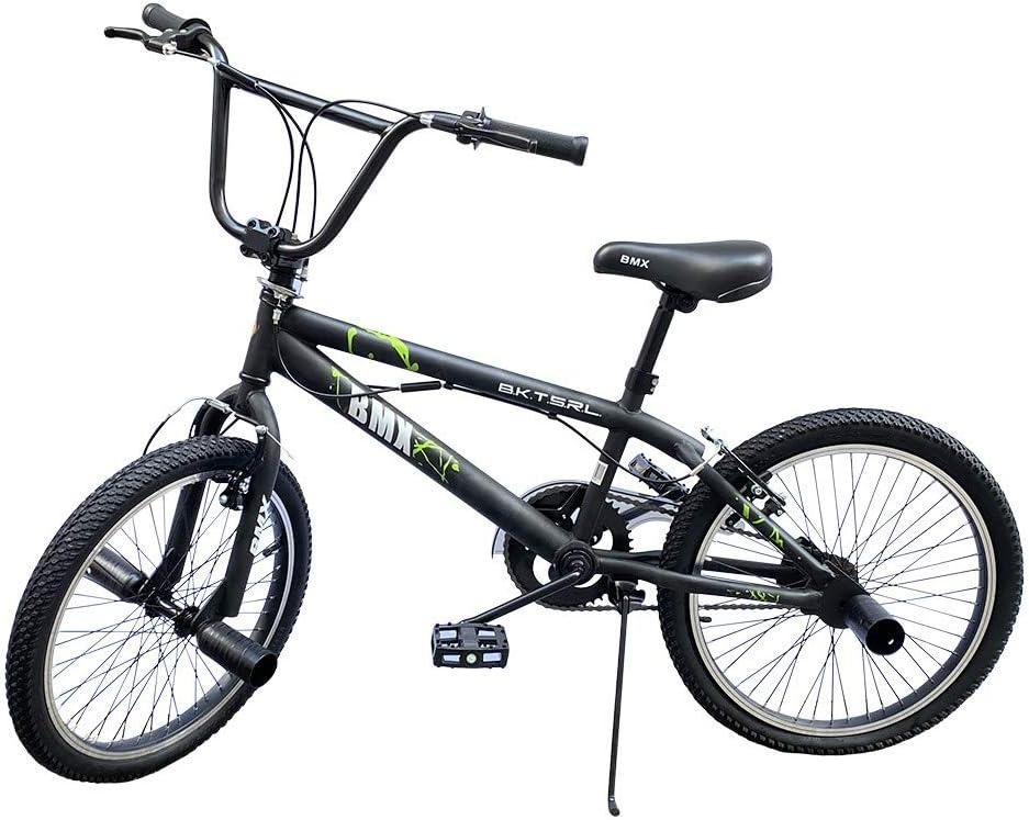 BMX Freestyle Mediawave Store Bicicletta BMX FreeStyle Bici con Telaio in Acciaio Jumper SPOKES WHEEL Bicicletta Misura Taglia 20 Pollici con Sterzata di 360/°