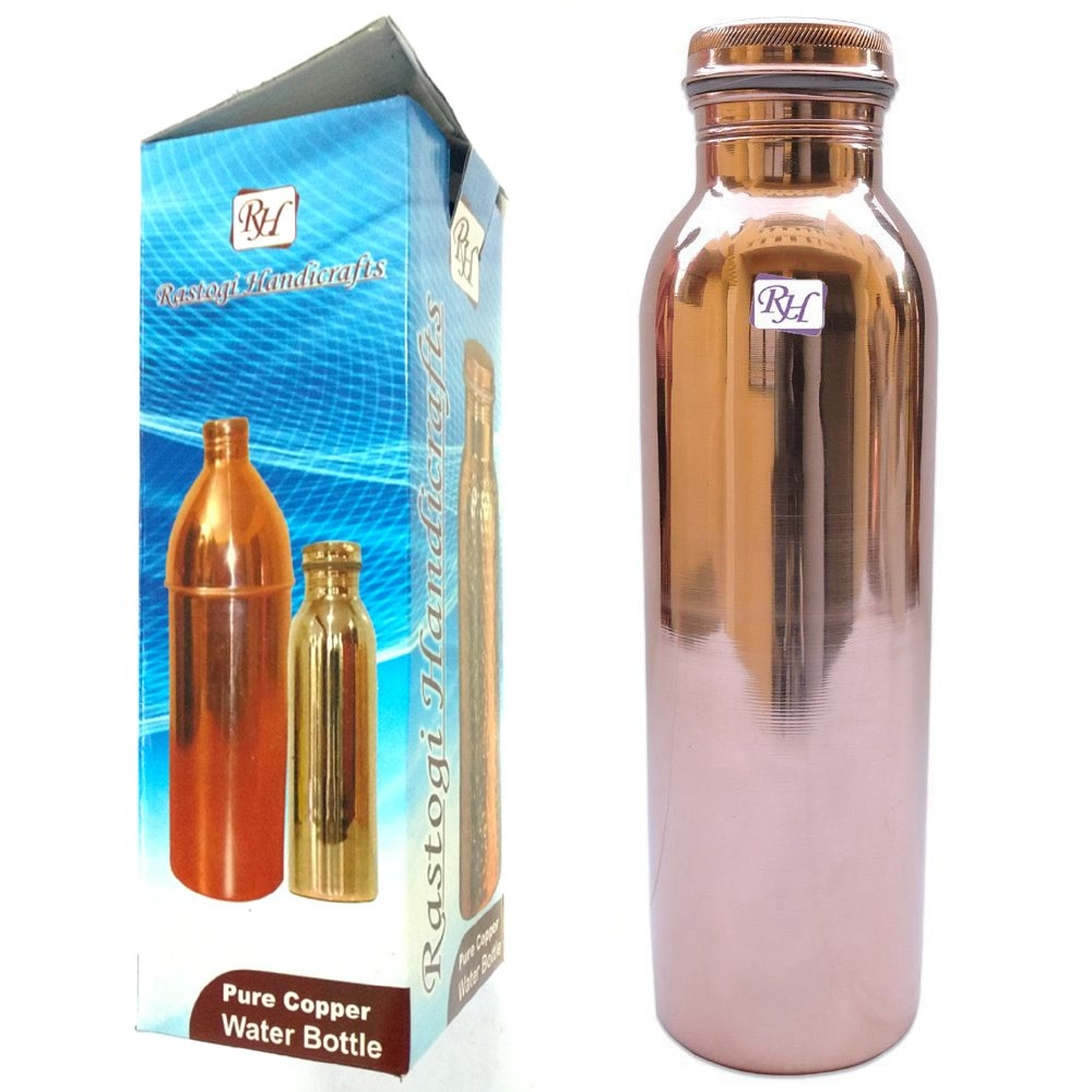 Rastogi handicrafts copper water bottle joint free leak for Handicrafts made of plastic bottles