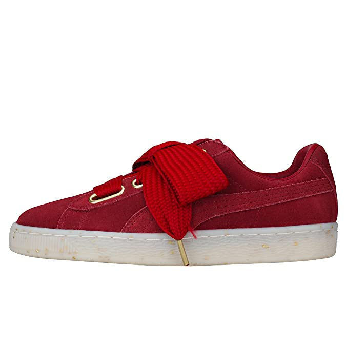 5df9e7a2a91 Puma Women s Suede Heart Celebrate Low-Top Sneakers  Amazon.co.uk  Shoes    Bags