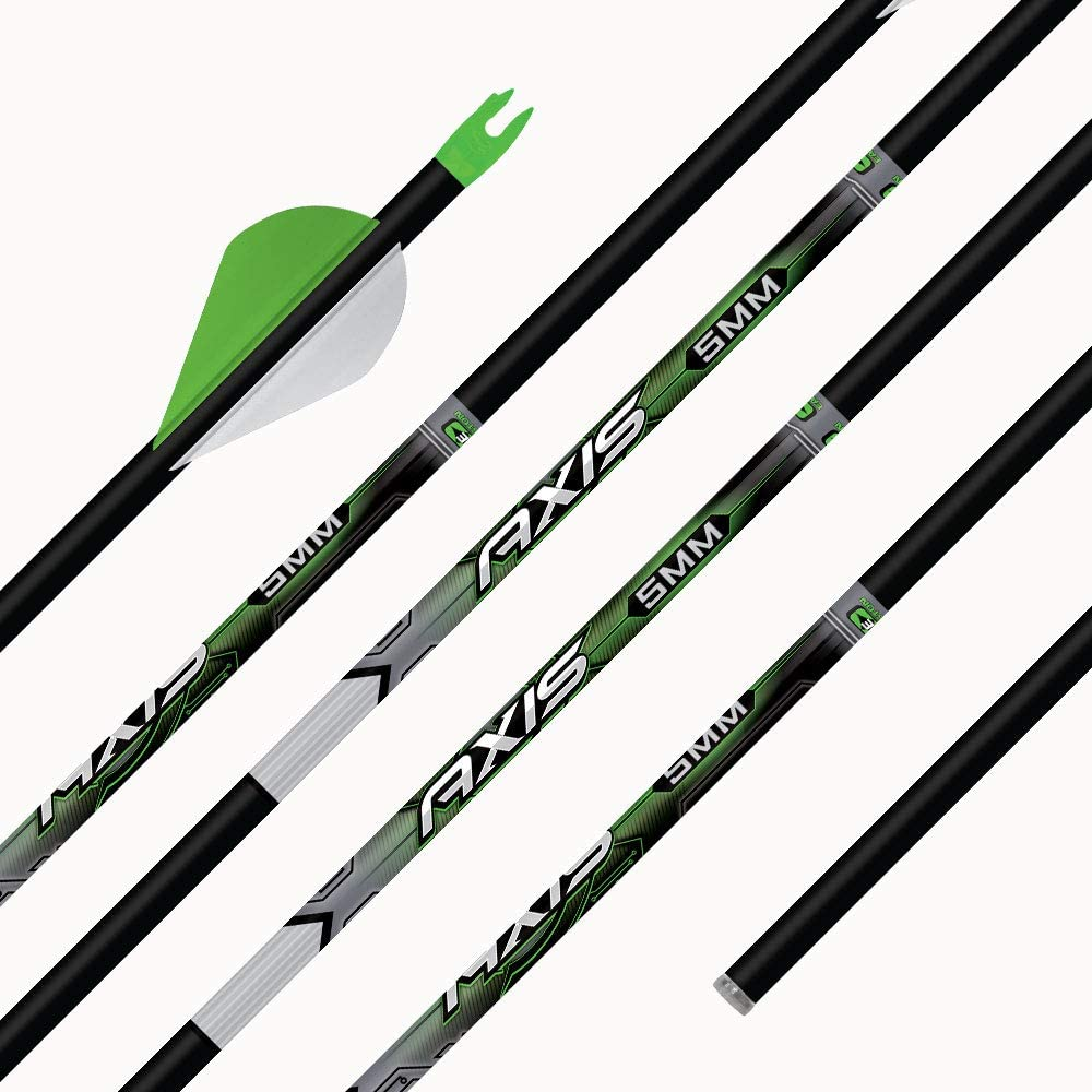 12 Easton Axis Traditional 5MM 500 Carbon Arrow Shafts