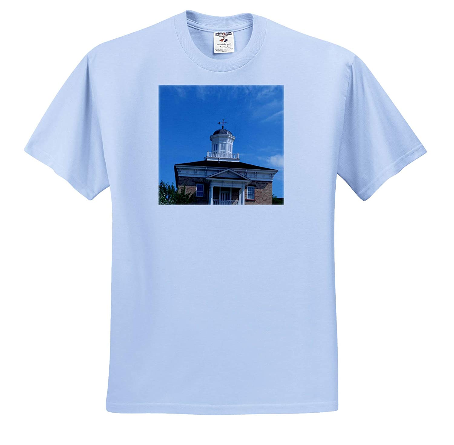 3dRose Jos Fauxtographee an Old Building in a Small Town in Utah with a Blue Sky T-Shirts Building Utah