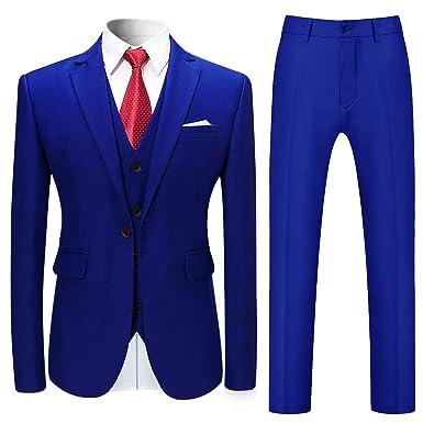 508c6dead120 Allthemen Herren Slim Fit 3 Teilig Anzug Modern Sakko für Business Hochzeit  Party