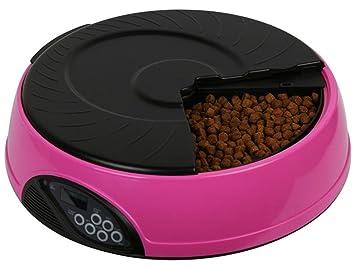 Comedero Automático Para Perros Gatos Y Mascotas Dispensador Pet Feeder 6 Comidas,Pink: Amazon.es: Deportes y aire libre
