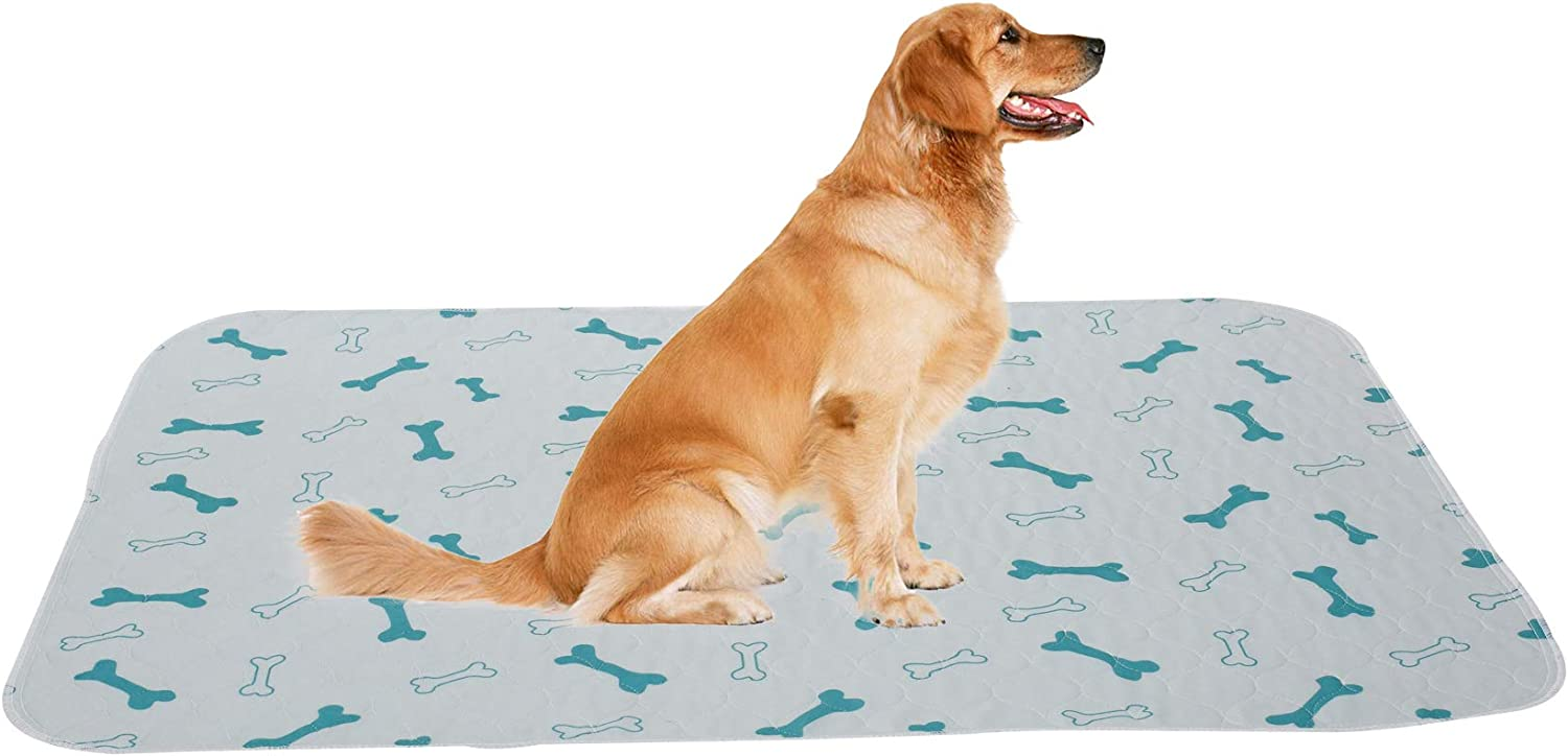 2 Pack Non-Slip Dog Crate Mat Pee Mat for Pets Dogs Cats Washable Dog Pads with Fast Absorbent Breathable Dog Training Pad Suitable for 24Crate Blue S