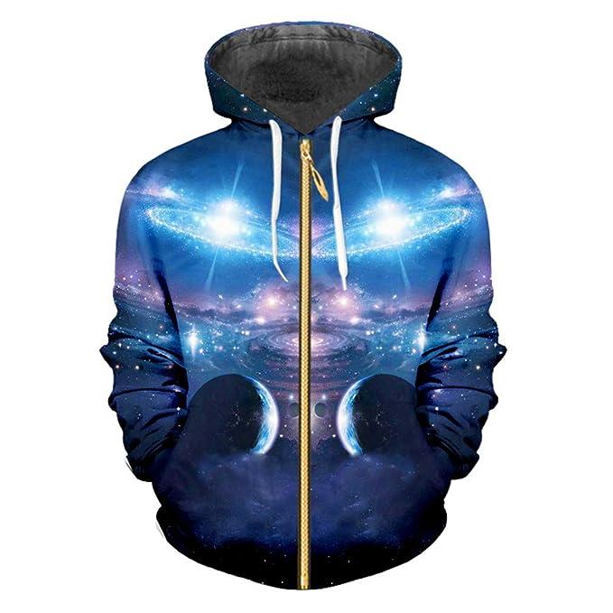 Sudaderas Capucha Mujeres/Hombres Cool Print 3D Sudadera Hoodies Unisex Hip Hop Jacket Zipper Hoody: Amazon.es: Ropa y accesorios