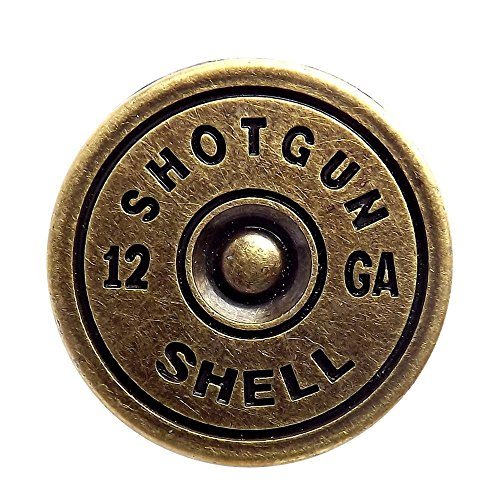 Brass Plated Shotgun Shell Cap Screwback Conchos (Concho Buckle)