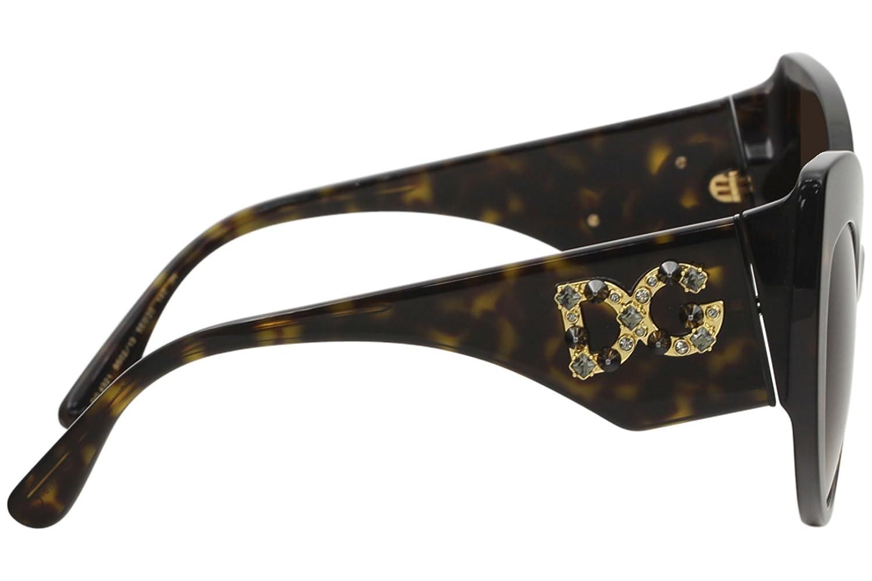 Amazon.com: Dolce & Gabbana DG4321 B50213 Havana Cat Eye ...