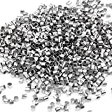 Ecloud ShopCA 1000 Silver Plated Crimp Tube Beads Spacer Stopper 2mm FASHION