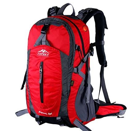 5f1e8d81dcbe Topsky 50L Outdoor Sports Camping Hiking Backpack Waterproof Internal Frame  Rucksack Unisex Large Travel Daypack Trekking Bag with Rain Cover