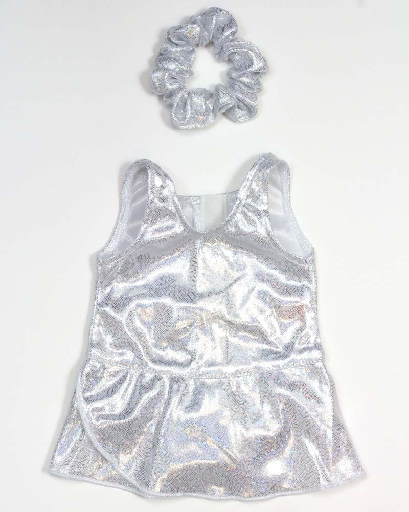 Three Piece Set with Silver Sparkle Skating Dress Includes Doll Ice Skates 18 Inch Doll Clothes Silver Sparkle Ice Skating Outfit 3-Piece Set by Sophias Fits 18 Inch American Girl Doll