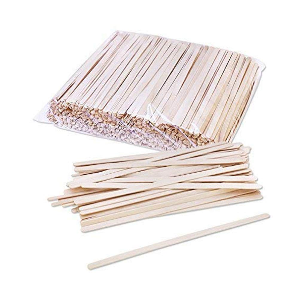LANGING 1000 Pack Birch Wood Coffee Beverage Stirrers 7''