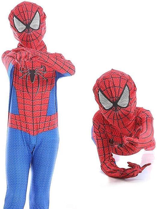 DSFGHE Niños Spider Man Halloween Jumpsuit 3D Print Spandex Lycra ...