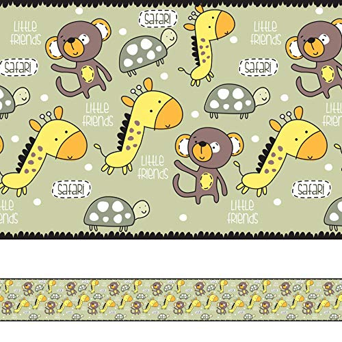Faixa Decorativa Adesiva Safari Infantil 6mx15cm