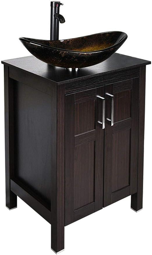 Amazon Com 24 Inch Bathroom Vanity Set Combo Mdf Sink Cabinet