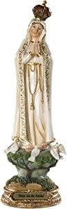 Catholic Brands Blessed Virgin Mary Our Lady of Fatima Statue 8 Inch Figurine for Home or Chapel