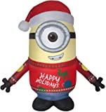 Gemmy Airblown 9.5' Minion Carl Merry Christmas Inflatable Indoor/Outdoor Holiday Yard Decor