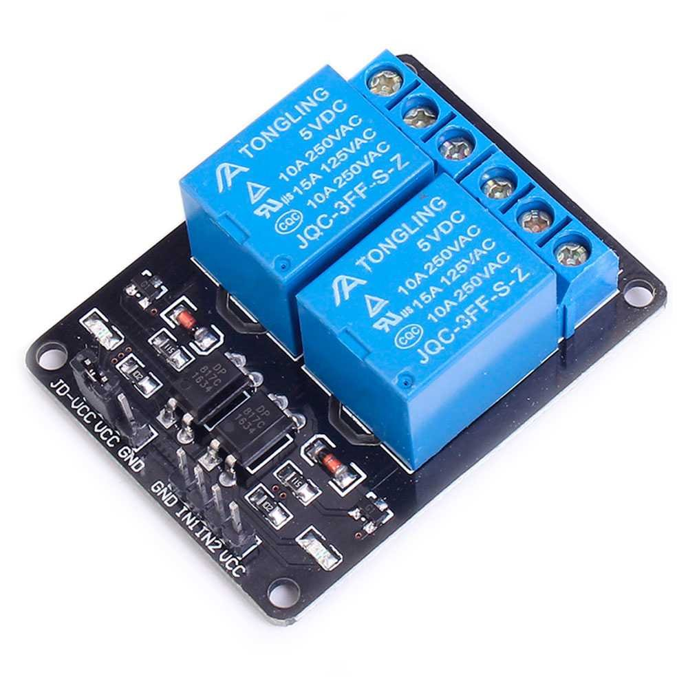 Ociodual Modulo Rele 5V 10A de 2 Canales para Arduino Arm PIC AVR DSP Relay Raspberry Pi