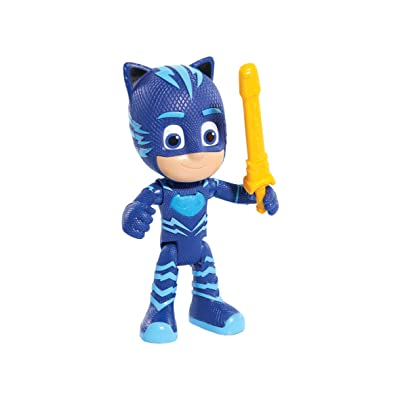 PJ Masks Deluxe Talking- Cat Boy Figure Toy, Blue: Toys & Games