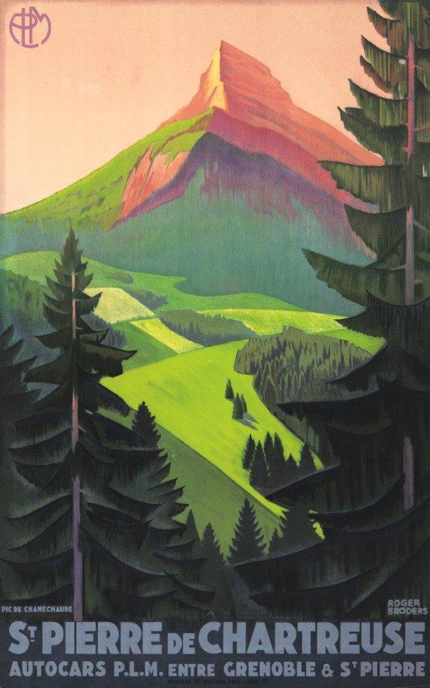 ST PIERRE DE CHARTREUSEヴィンテージポスター(アーティスト: Broders , Roger )フランスC。1930 12 x 18 Art Print LANT-64666-12x18 12 x 18 Art Print  B017Z7BECI