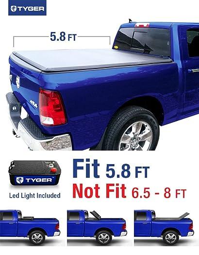 TYGER® Tri-Fold Pickup Tonneau Cover Fits 2002-2016 Dodge Ram 1500; 2003-2016 Dodge Ram 2500/3500